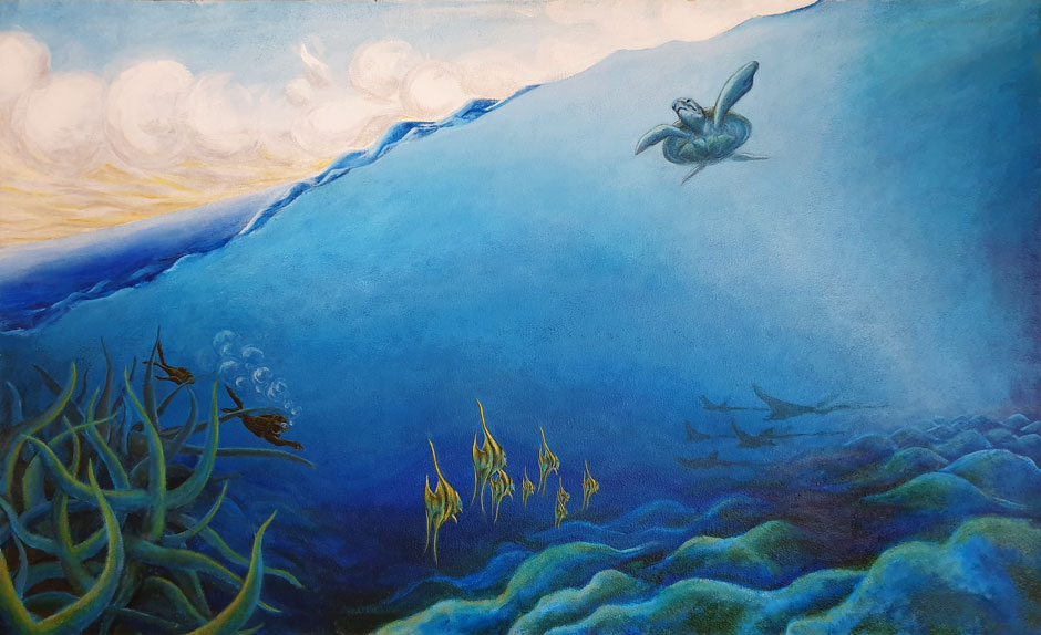 Underwaterscape – acrylic on canvas – 120 x 75 cm