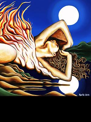 Journey Within - acrylic on canvas - 60 x 40 cm