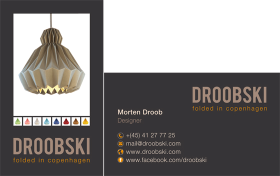 Droobski - Folded in Copenhagen -  Business Card