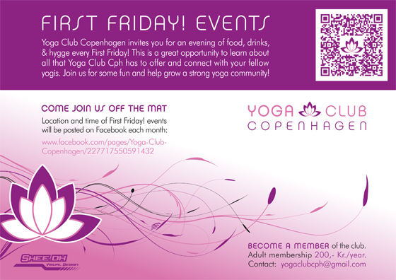 Yoga Club Copenhagen - Flyer