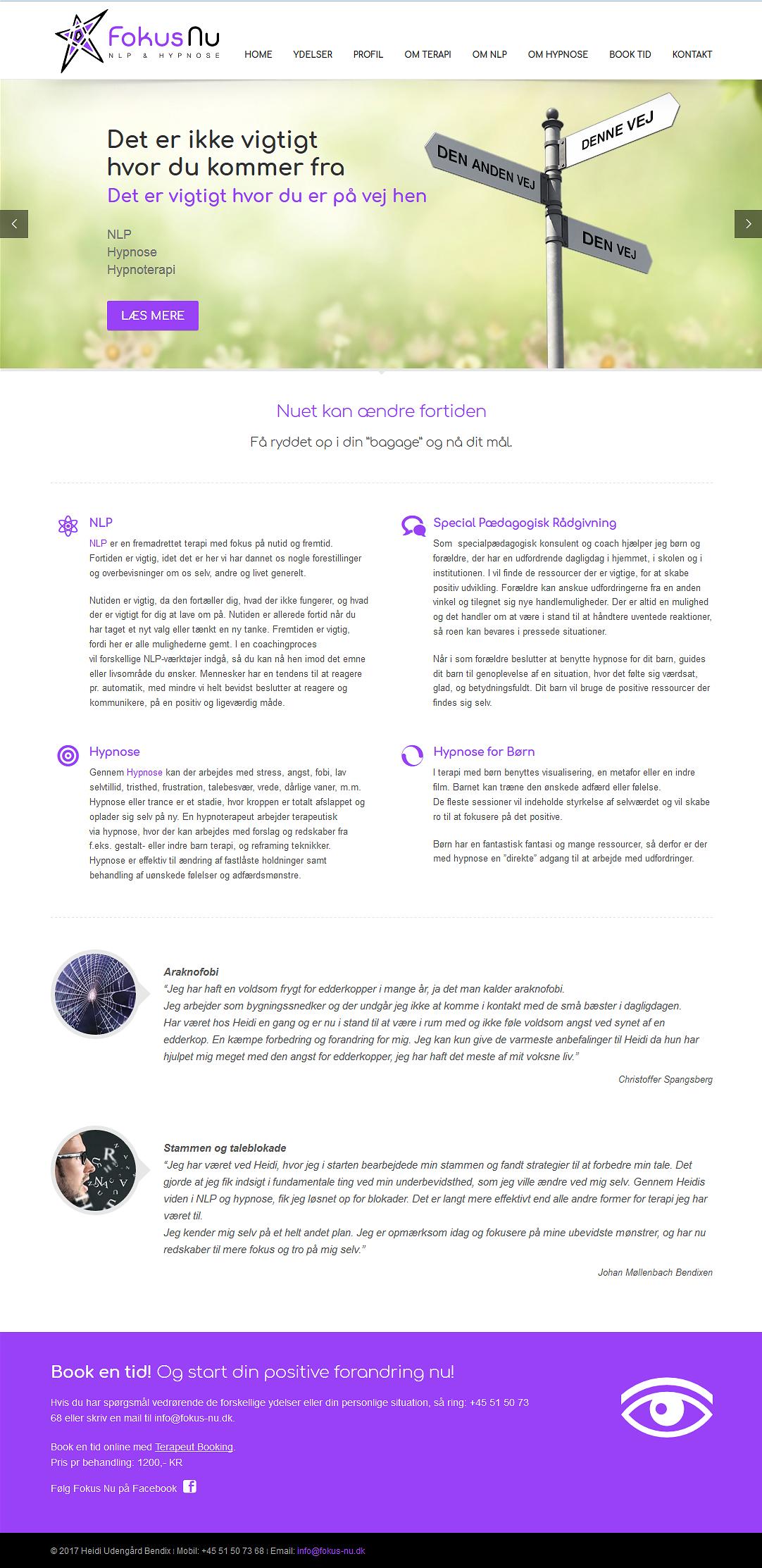 Fokus Nu - Home Page Design
