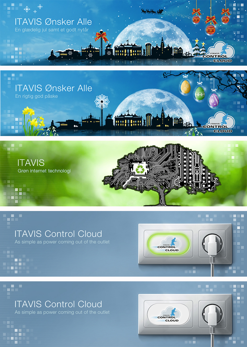 Itavis Control Cloud – Seasonal Brand Feature Banner Designs