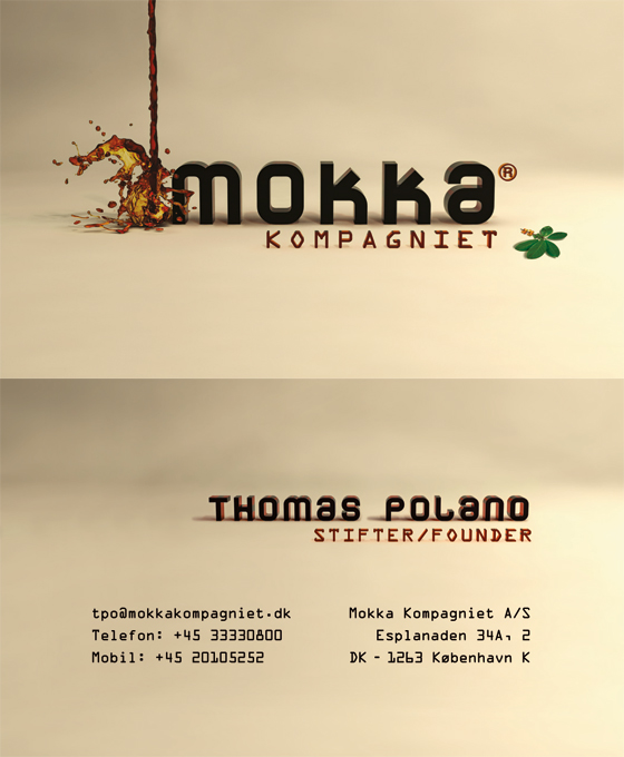 Mokka Kompagniet - Business Card