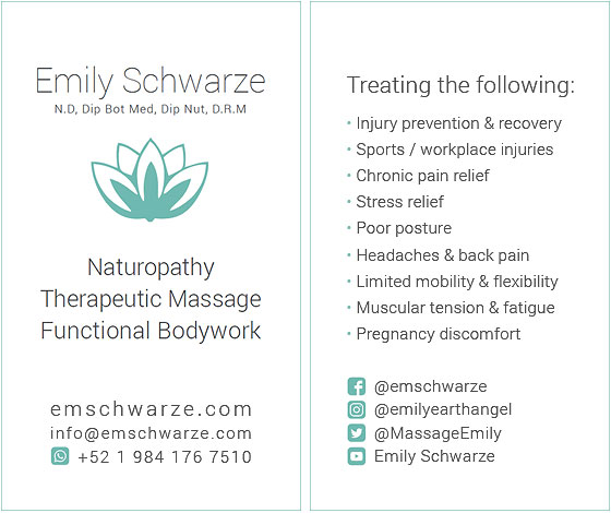 Emily Schwarze - Business Card Design