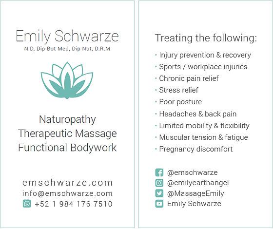 Emily Schwarze - Business Card Design