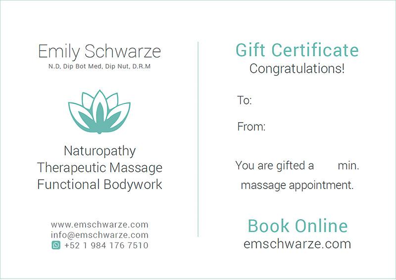 Emily Schwarze - Gift Certificate