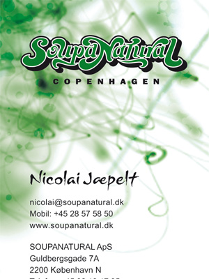 Soupanatural - Business Card