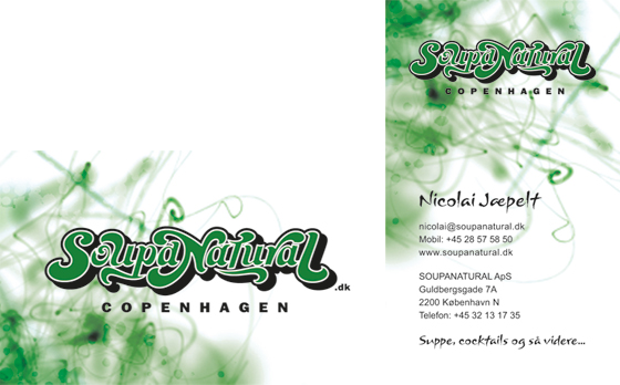 Soupanatural - Business Card Tilt