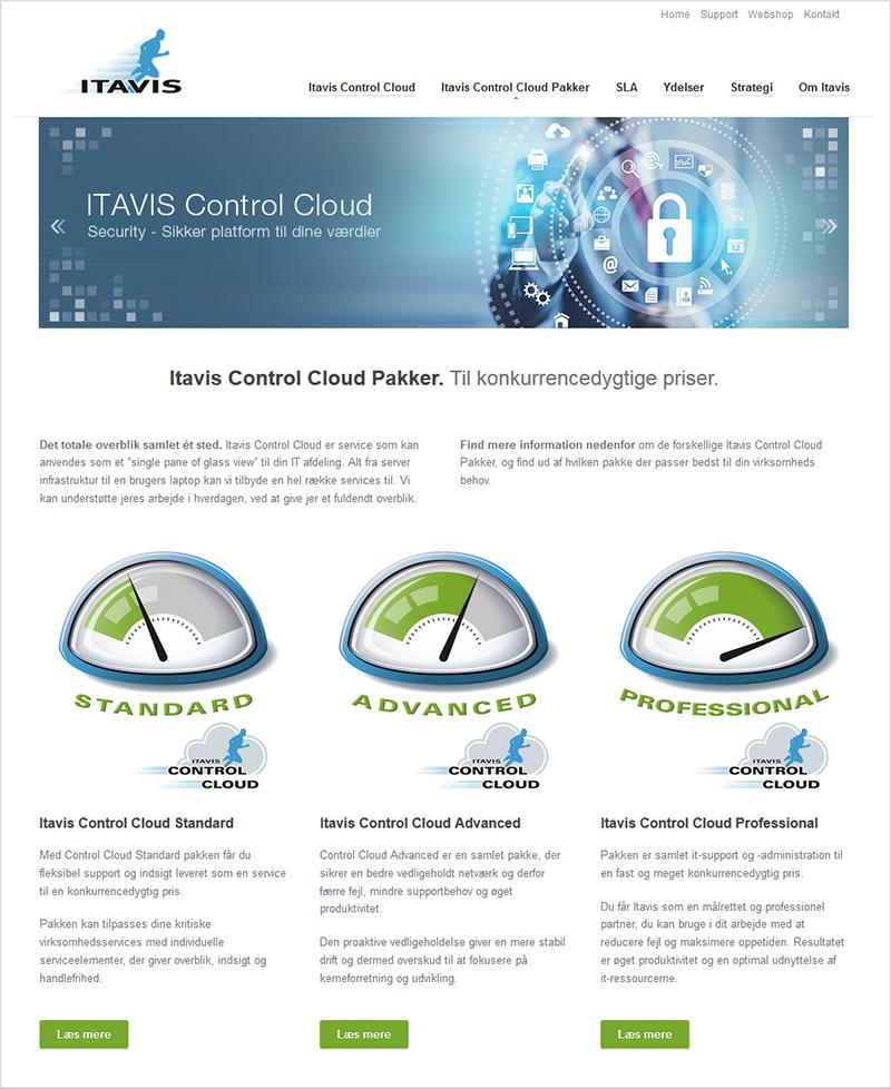 Itavis Control Cloud - Landing Page Design