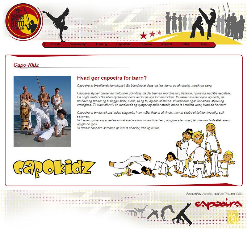 Capoeira - Joomla CMS Web Design
