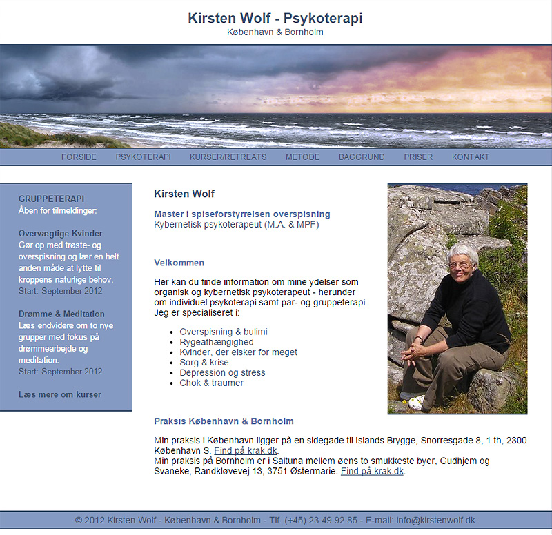 Kirsten Wolf - Nano CMS Web Design